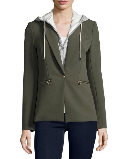 Veronica Beard | Green Scuba Jacket | Lyst
