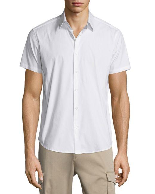 Theory | White Sylvain Short-sleeve Shirt for Men | Lyst