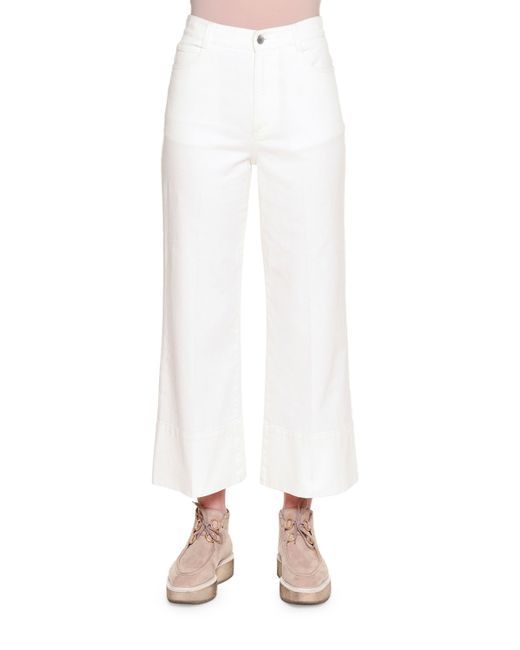 Stella McCartney | White High-waist Culotte Jeans | Lyst