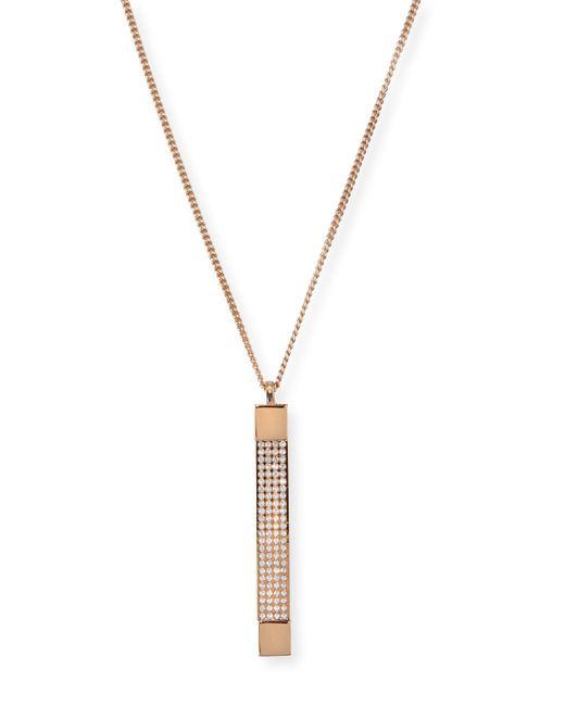 Vita Fede | Metallic Mia Quadra Pavé Crystal Bar Necklace | Lyst