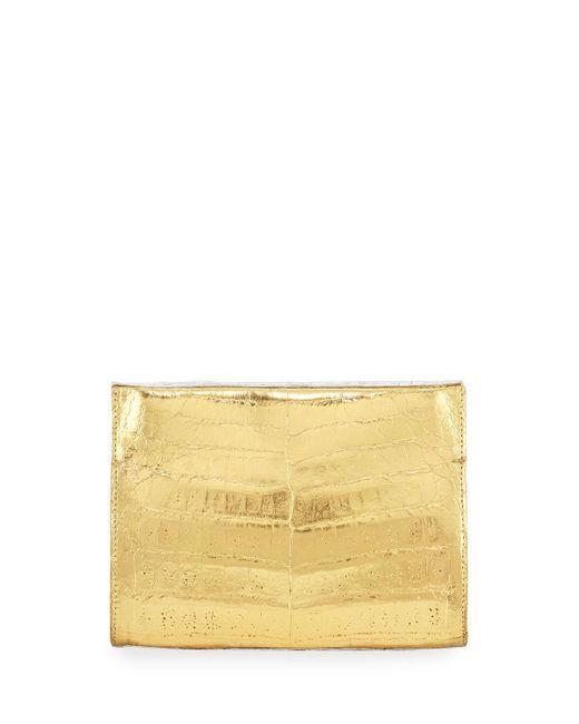 Nancy Gonzalez   Metallic Crocodile Small Clutch Bag   Lyst