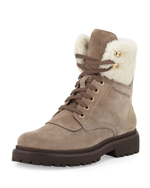 Moncler Patty Shearling Hiker Boot Save 40 Lyst