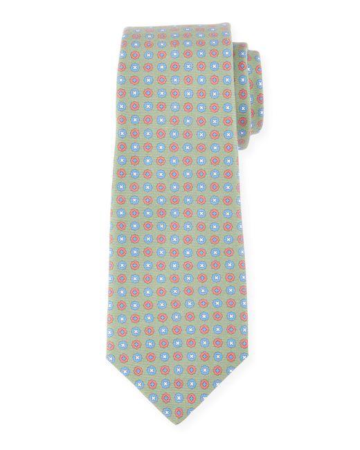 Kiton | Gray Neat Circle-medallion Printed Silk Tie for Men | Lyst