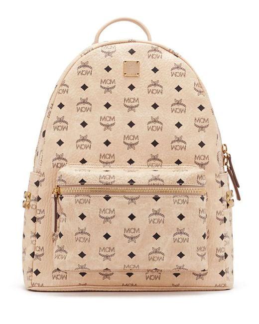 mcm stark men 39 s side stud medium backpack in natural for men lyst. Black Bedroom Furniture Sets. Home Design Ideas