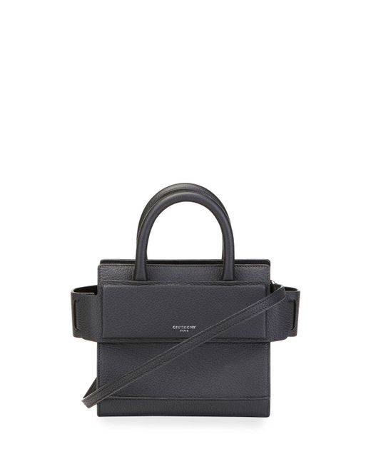 Givenchy | Black Horizon Nano Grained Leather Satchel Bag | Lyst