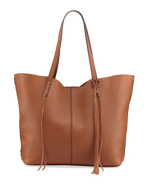 Rebecca Minkoff   Brown Medium Unlined Whipstitch Tote Bag   Lyst
