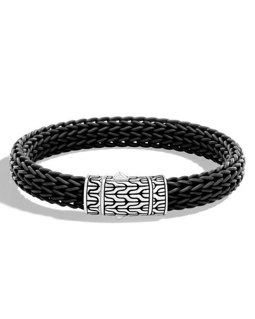 John Hardy | Black Men's Classic Chain Rubber Push-clasp Bracelet for Men | Lyst