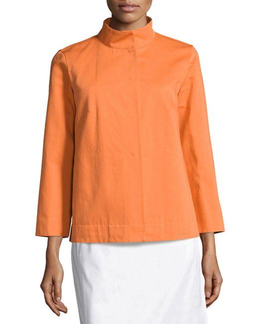 Lafayette 148 New York | Orange Octavia Ottoman Vanna Swing Jacket | Lyst