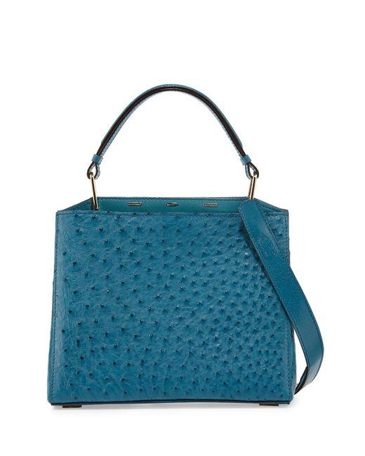 Vbh Seven 30 Ostrich Tote Bag In Blue
