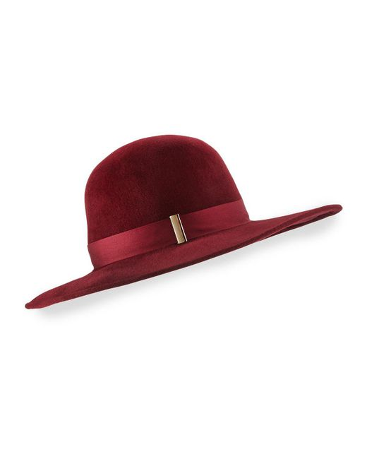 Gigi Burris Millinery | Red Kyleigh Hand-blocked Wide-brim Hat | Lyst