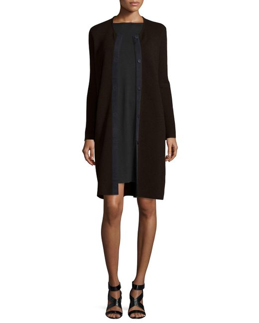 Eileen Fisher | Brown Washable Wool Long Snap Jacket | Lyst