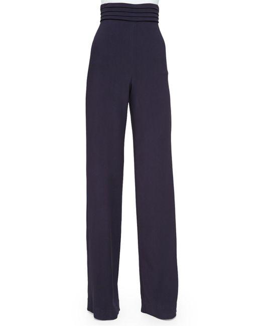 Cushnie et Ochs | Blue Cummerbund High-waist Trousers | Lyst