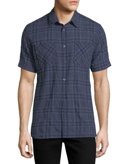 Billy Reid | Blue Clarence Plaid Cotton Shirt for Men | Lyst