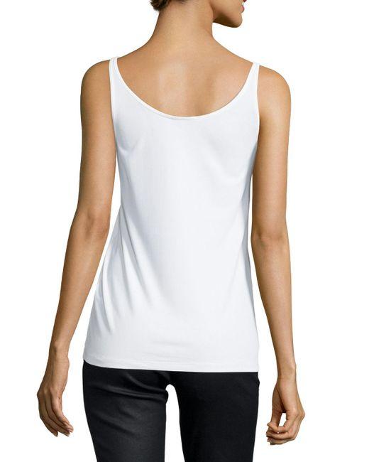 Eileen Fisher | White Silk Jersey Long Slim Camisole | Lyst