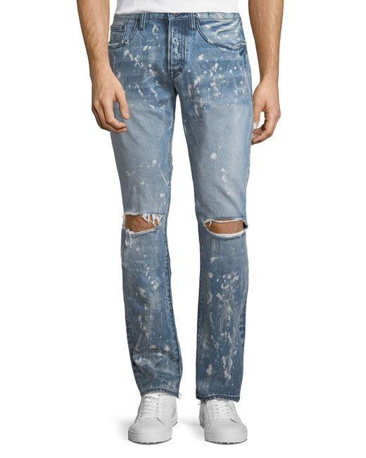 3b38d69debc Lyst - PRPS Demon Distressed Slim-straight Jeans in Blue for Men ...