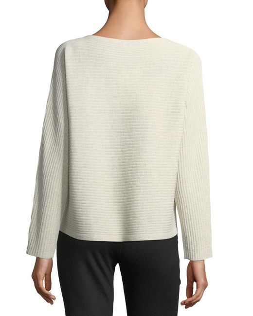 Eileen Fisher | White Washable Wool Box Top | Lyst