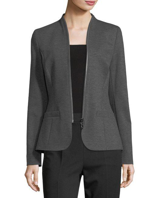 ESCADA | Gray Zip-around Jersey Jacket | Lyst