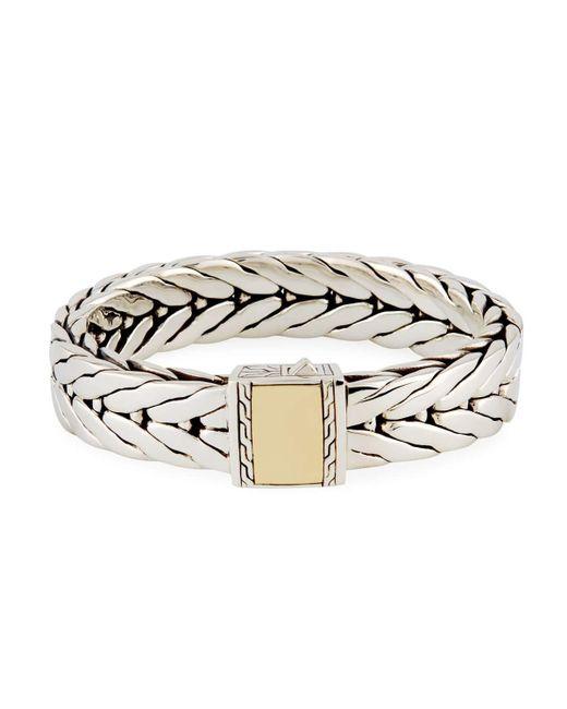 John Hardy | Metallic Men's Modern Chain Large Rectangle Bracelet for Men | Lyst