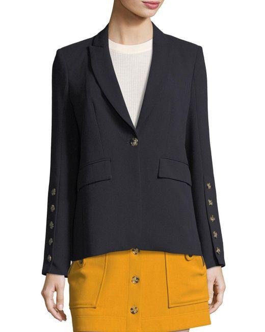 Veronica Beard | Blue Steele Cutaway Button-cuff Tailored Jacket | Lyst