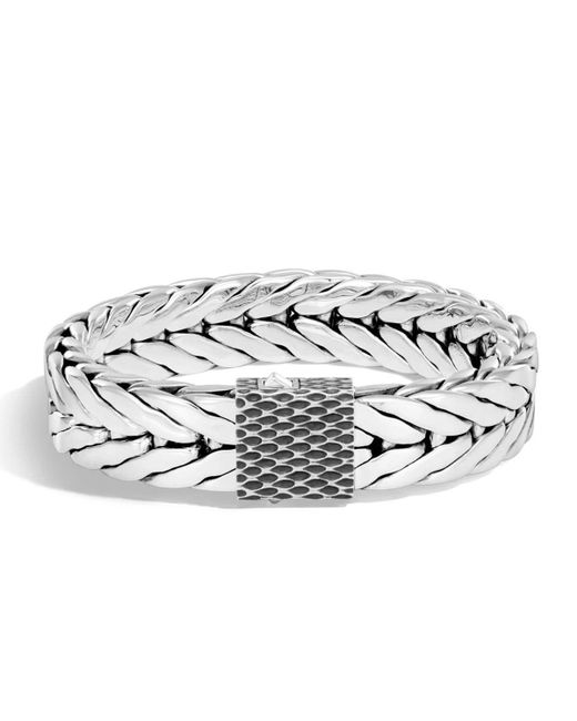 John Hardy   Metallic Men's Legends Naga Dragon Sterling Silver Chain Bracelet for Men   Lyst