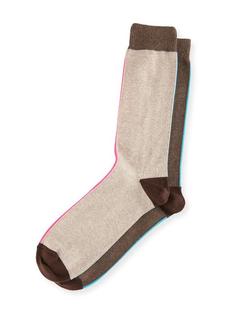 Paul Smith | Gray Striped Colorblock Socks for Men | Lyst