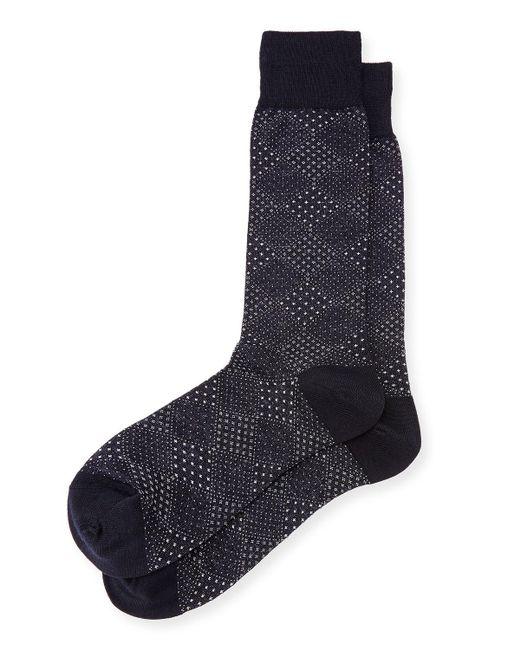 Neiman Marcus - Blue Pin-dot Diamond Wool Socks for Men - Lyst