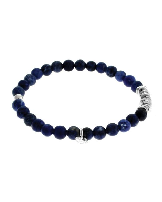 Tateossian | Metallic Men's Round Sodalite Beaded Bracelet | Lyst