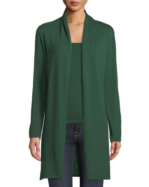Neiman Marcus - Green Modern Superfine Cashmere Duster Cardigan - Lyst