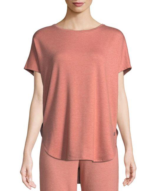 Natori - Pink Zen Short-sleeve Caftan Top - Lyst