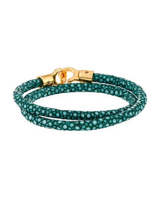 Brace Humanity - Green Men's Brunswick Stingray Wrap Bracelet for Men - Lyst