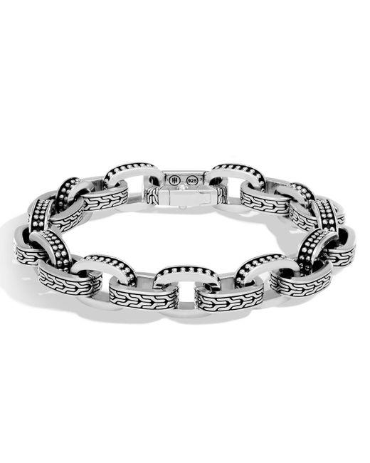 John Hardy - Metallic Men's Classic Chain Link Jawan Sterling Silver Bracelet for Men - Lyst