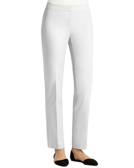 Lafayette 148 New York | Black Crosby Metropolitan Straight-leg Pants | Lyst