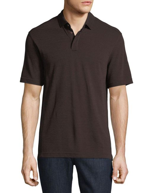 Zegna Sport | Red Techmerino Wool Polo Shirt for Men | Lyst