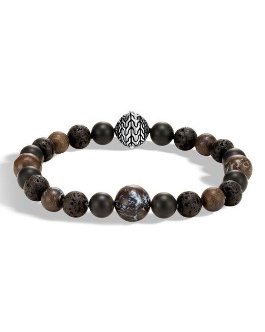 John Hardy - Metallic Men's Classic Chain Boulder Opal & Onyx Bead Bracelet for Men - Lyst