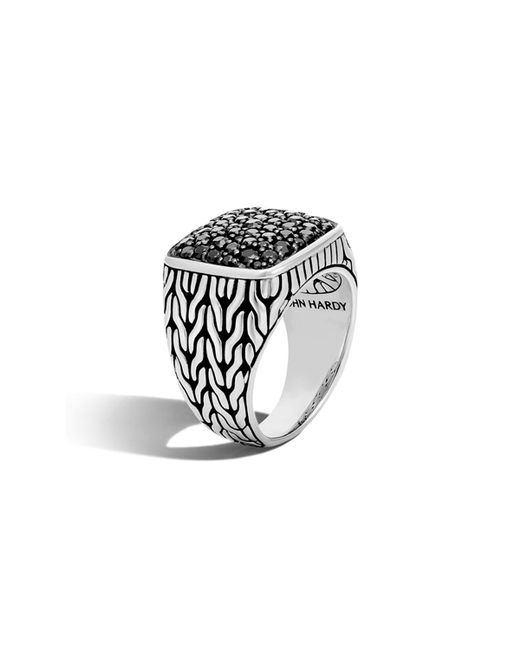 John Hardy - Men's Lava Black Sapphire Ring for Men - Lyst