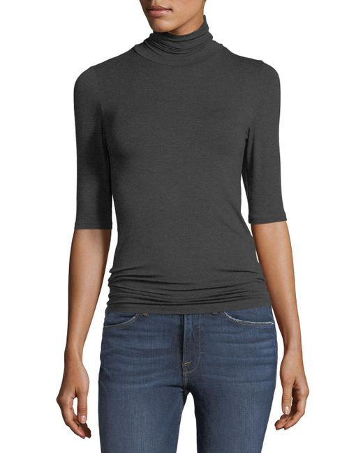 Neiman Marcus - Multicolor Soft Touch Half-sleeve Turtleneck - Lyst