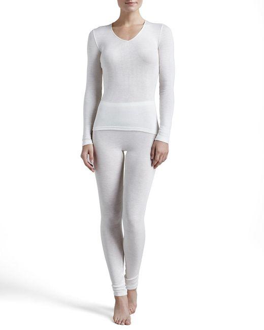 Hanro | White Silk-blend Leggings | Lyst