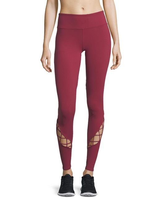 Alo Yoga - Red Entwine Lace-up Full-length Leggings - Lyst