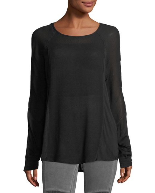 XCVI | Black Long-sleeve Crepe Blouse | Lyst