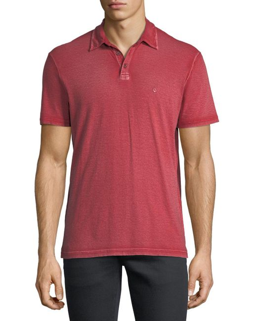 John Varvatos | Red Short-sleeve Peace Polo Shirt for Men | Lyst