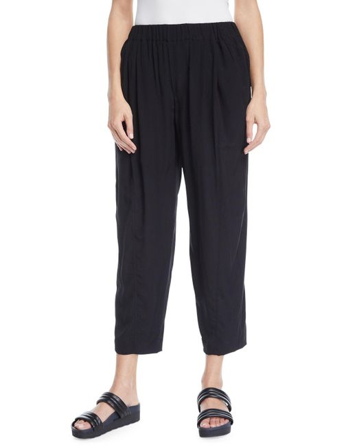 Urban Zen - Black Pull-on Stretch Cropped Pants - Lyst
