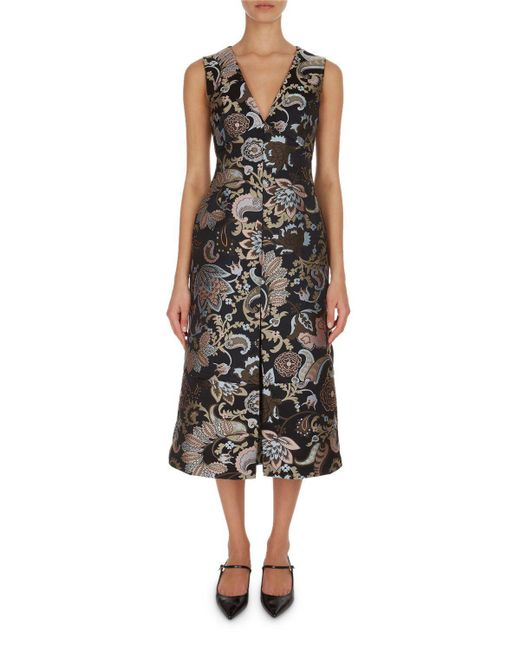 Erdem | Black Kamila Paisley Floral A-line Dress | Lyst