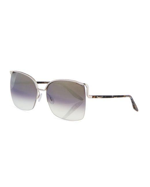 Barton Perreira | Multicolor Satdha Semi-rimless Square Sunglasses | Lyst
