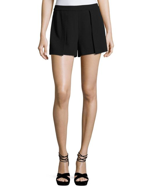 Alice + Olivia - Black Larissa Single-pleat Shorts - Lyst