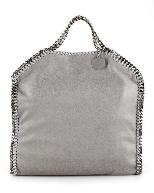 Stella McCartney | Gray Falabella Fold-over Tote Bag | Lyst