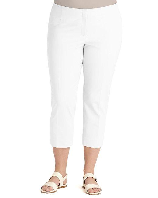 Lafayette 148 New York - White Cropped Bleecker Pants - Lyst