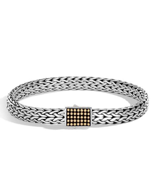 John Hardy - Metallic Men's Classic Chain Jawan Sterling Silver & 18k Gold Bracelet for Men - Lyst