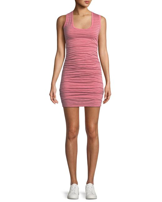 Velvet - Pink Genisa Scoop-neck Ruched Stripe Tank Dress - Lyst