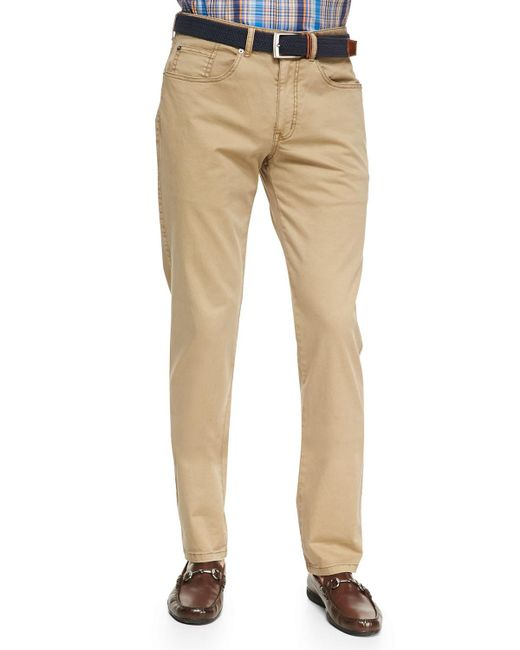 Peter Millar - Natural Stretch Five-pocket Twill Pants for Men - Lyst