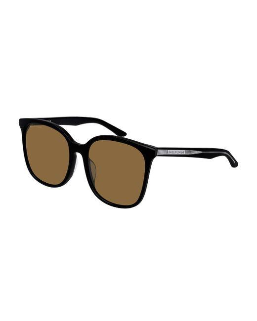 dc54f1d0b26 Lyst - Balenciaga Square Monochromatic Sunglasses in Black for Men